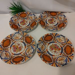 """Set of 4 Gryphon ware Decorated Wall Plates 7.5"""""""